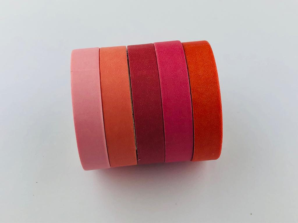 Kit Washi Tape - 5 cores