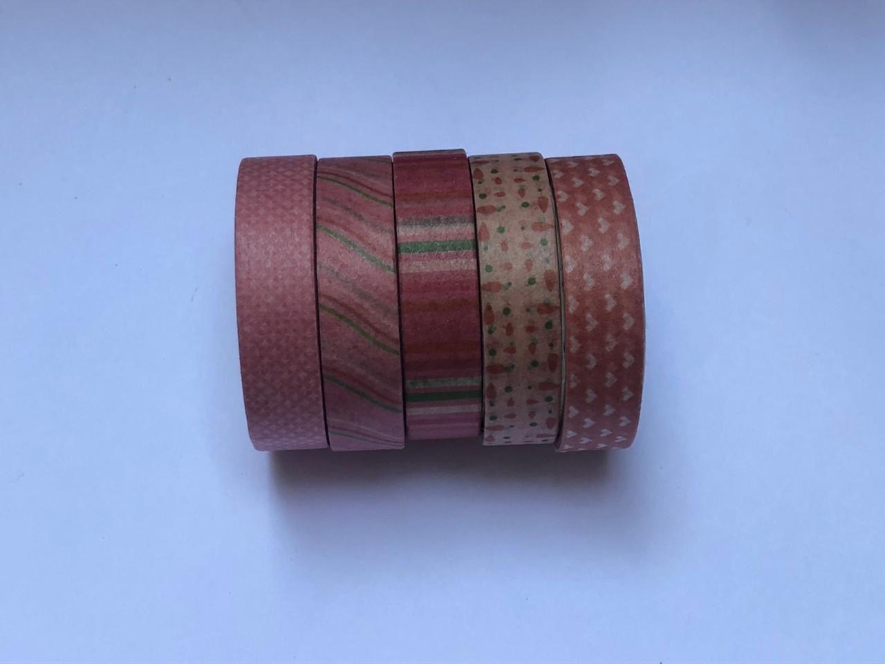 Kit Washi Tape estampada - 5 peças