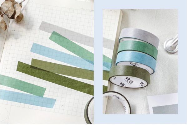 Kit Washi Tape pastel - 5 unidades