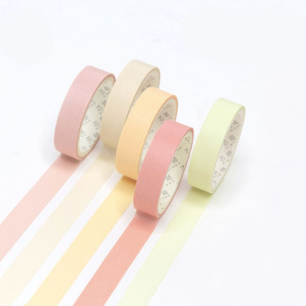 Kit Washi Tape Pastel Color - 5 unidades