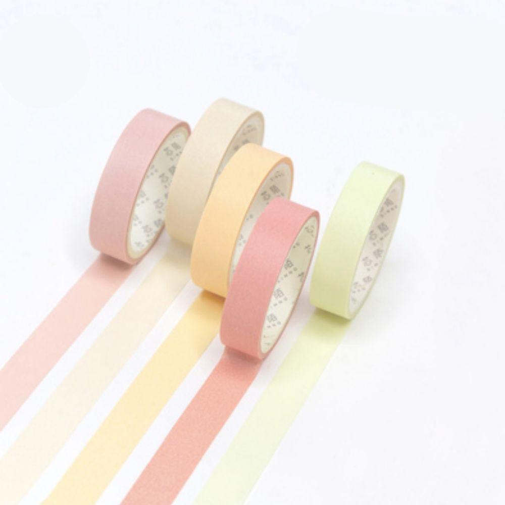 Kit Washi Tape Pastel Color - 5 unidades