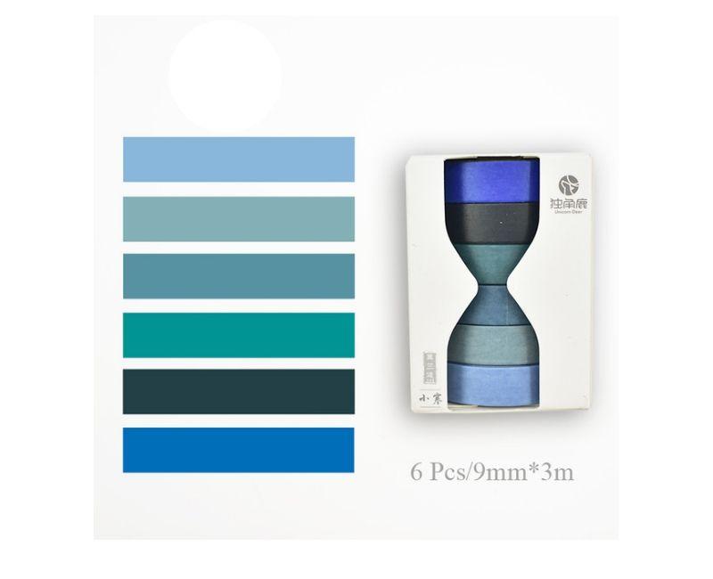 Kit Washi Tape Solid Colors - 6 peças