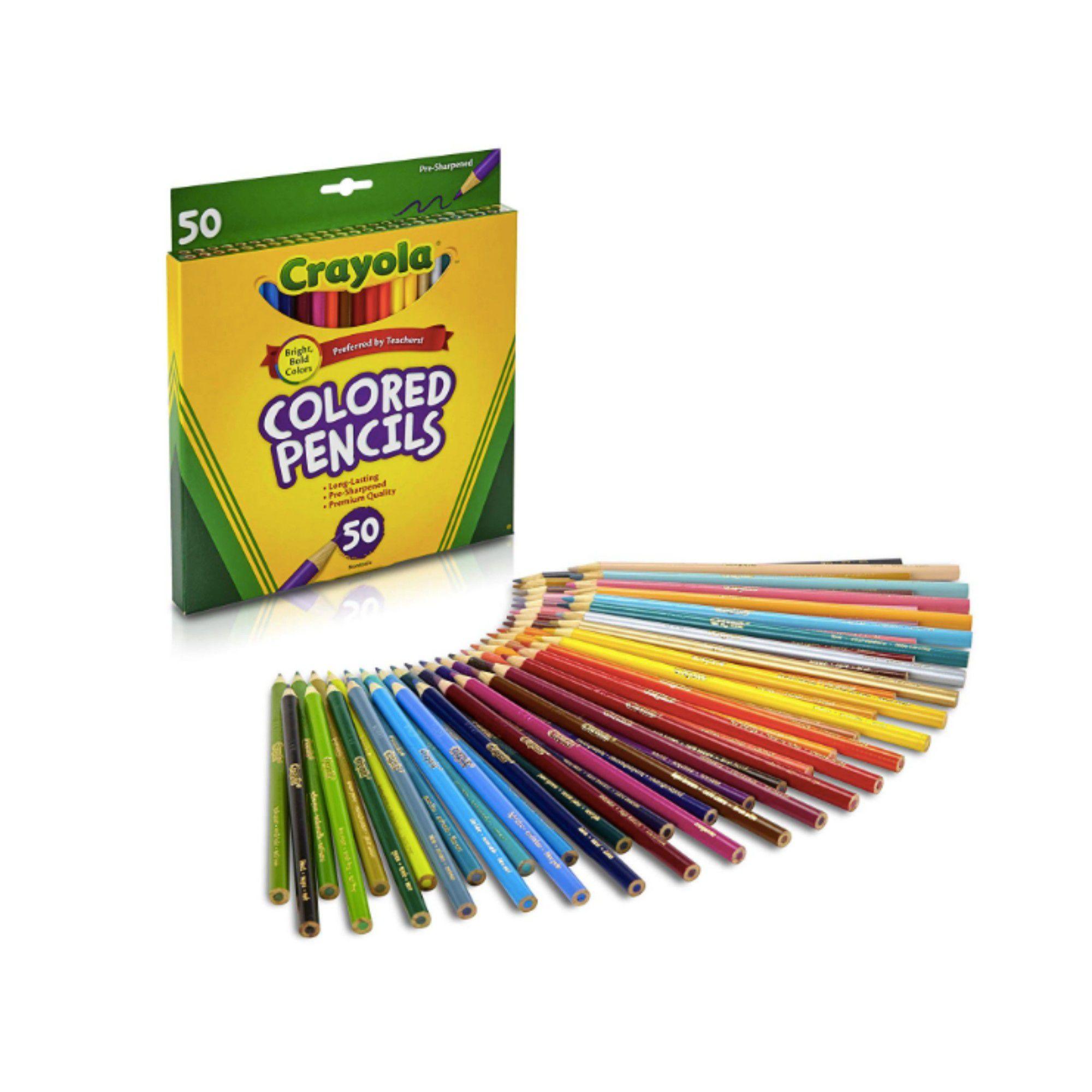 Lápis de cor Crayola - 50 cores
