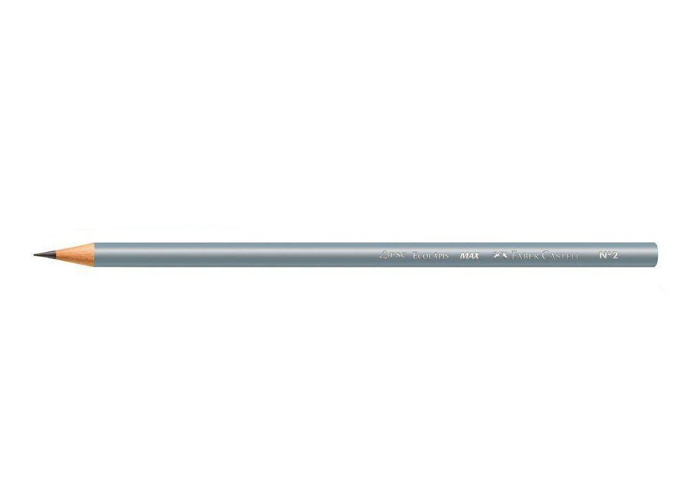 Lápis preto Faber Castell - corpo Metálico