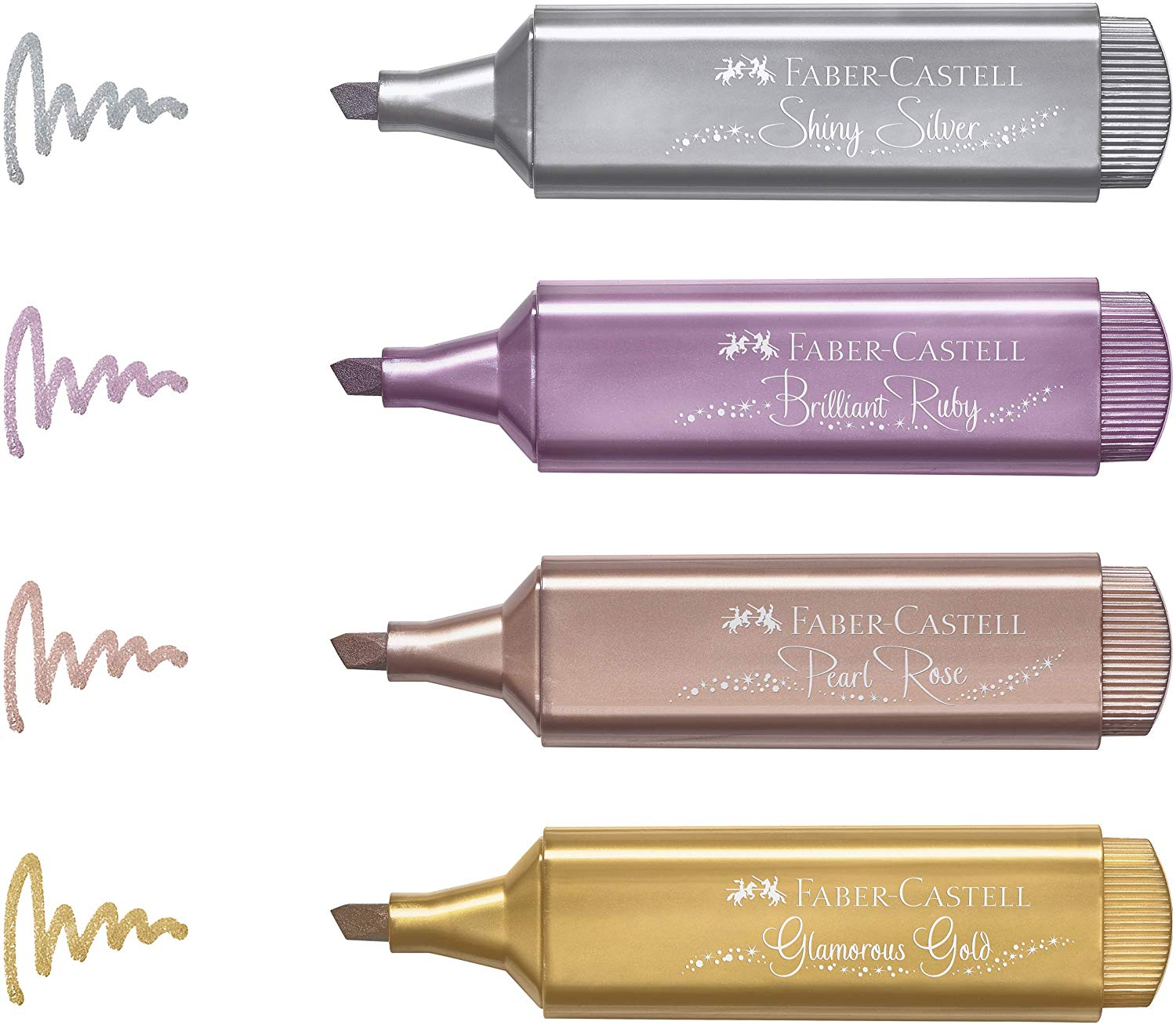 Marca texto Faber Castell Textliner - Metálico-Glitter