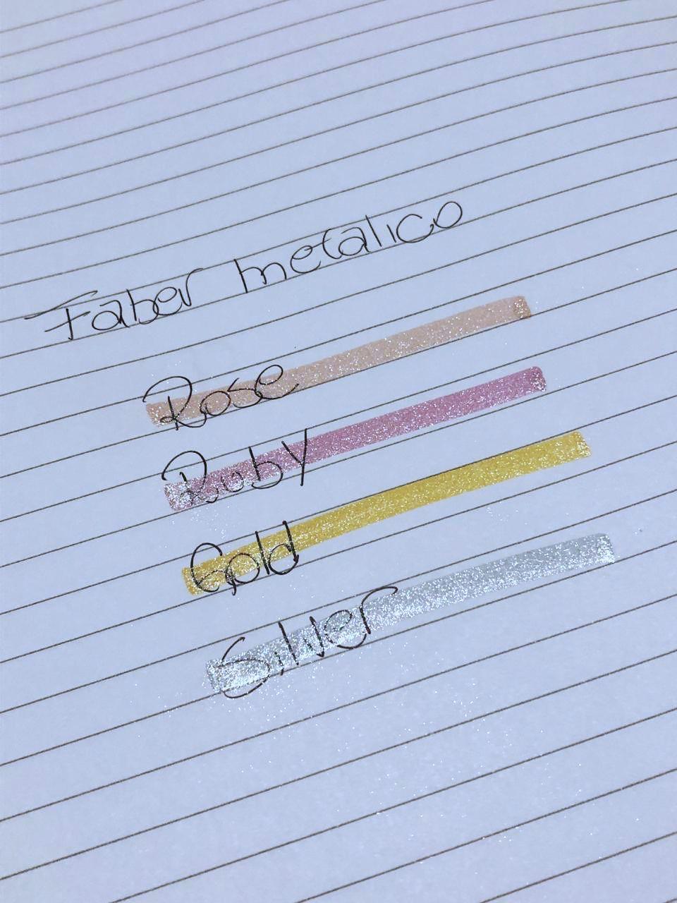 Marca texto Faber Castell Textliner - Metálico-Glitter