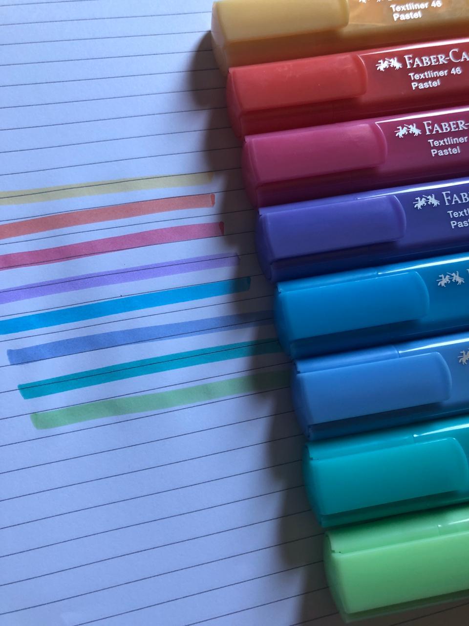 Marca texto Faber Castell Textliner - Pastel