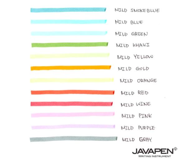 Marca Texto Javapen - Power Line 2500 Pastel - 12 cores