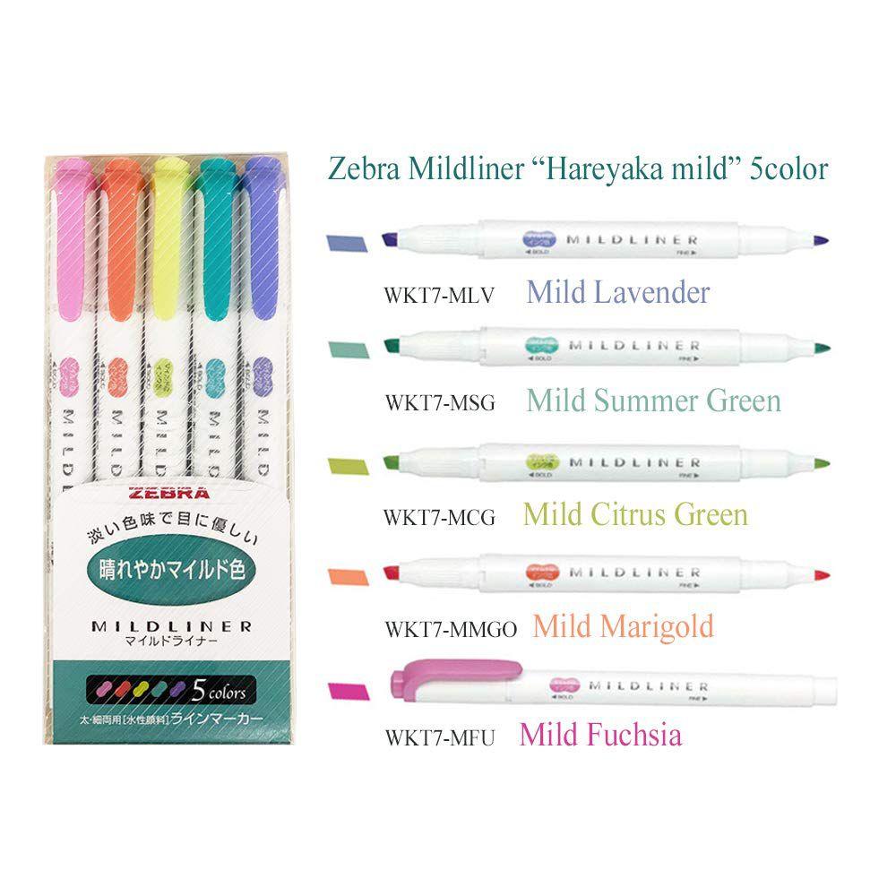Marca Texto Zebra Mildliner Dual Tip - 5 pack