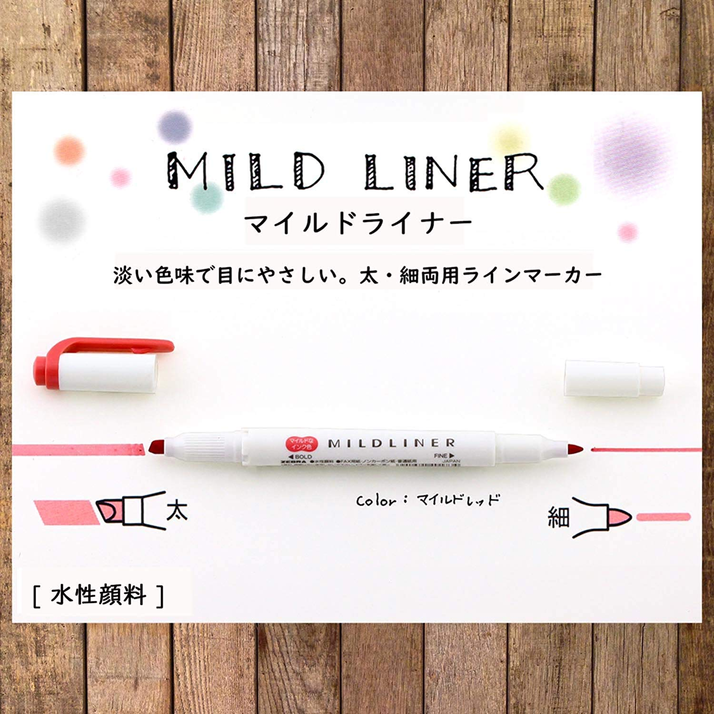 Marca Texto Zebra Mildliner Dual Tip - pack com 10