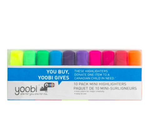 Mini Marca Texto Yoobi - Cores Clássicas - Pack 10 cores