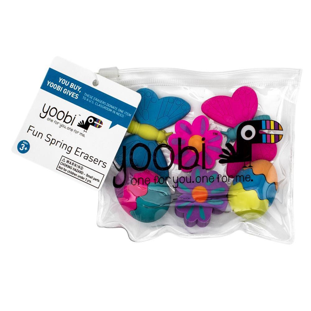 Pack Borracha Yoobi - 6 peças