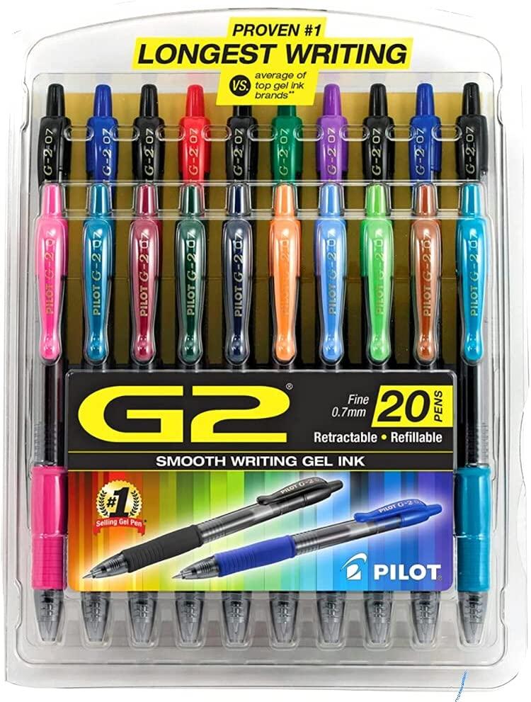 Pilot, Caneta esferográfica  G2 Colorida - 20 unidades