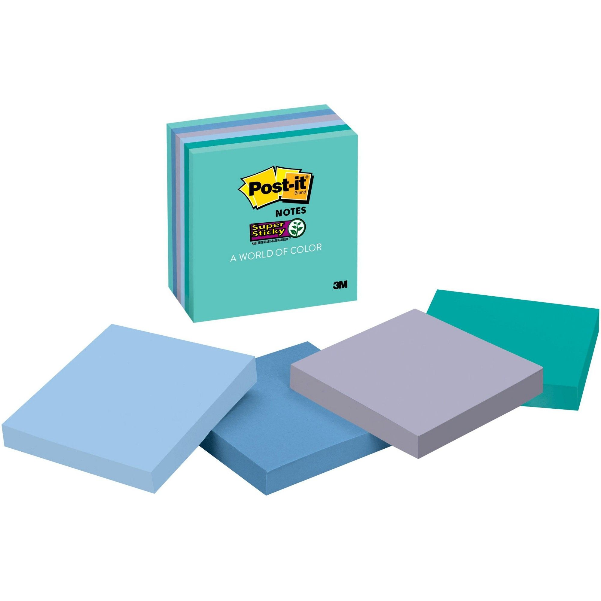 Post it - A word of color - Blues and Greens- 65un