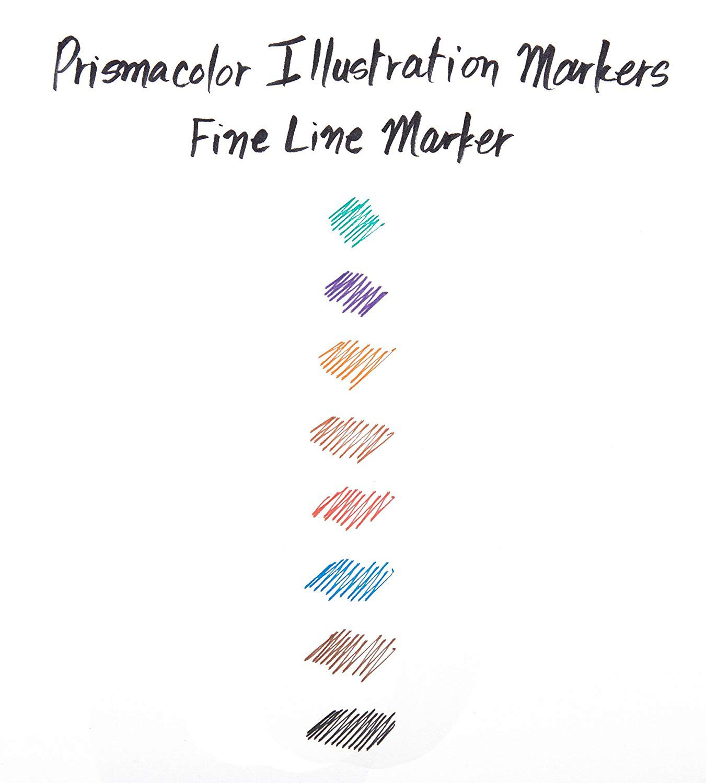 Prismacolor, Illustration Marker Fine Pen, Marcador Ponta Fina
