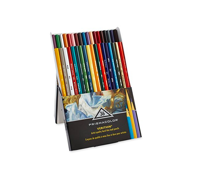 Prismacolor, Lápis de cor, Verithin Coloured Pencils, 36 cores