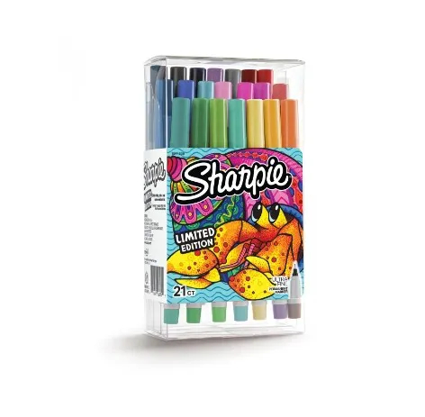 Sharpie , Caneta permanente ultra fina - pack com 21