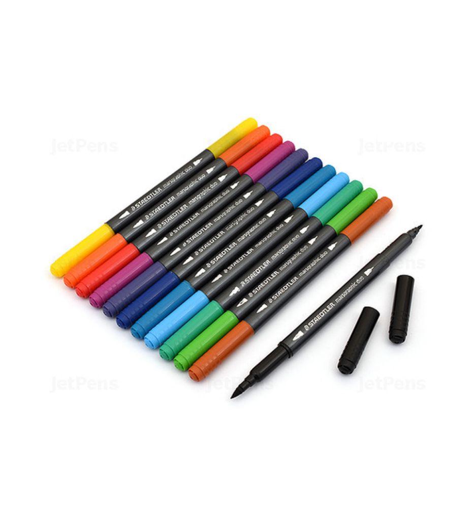 Staedtler, Caneta Brush Pen Lettering, 12 cores