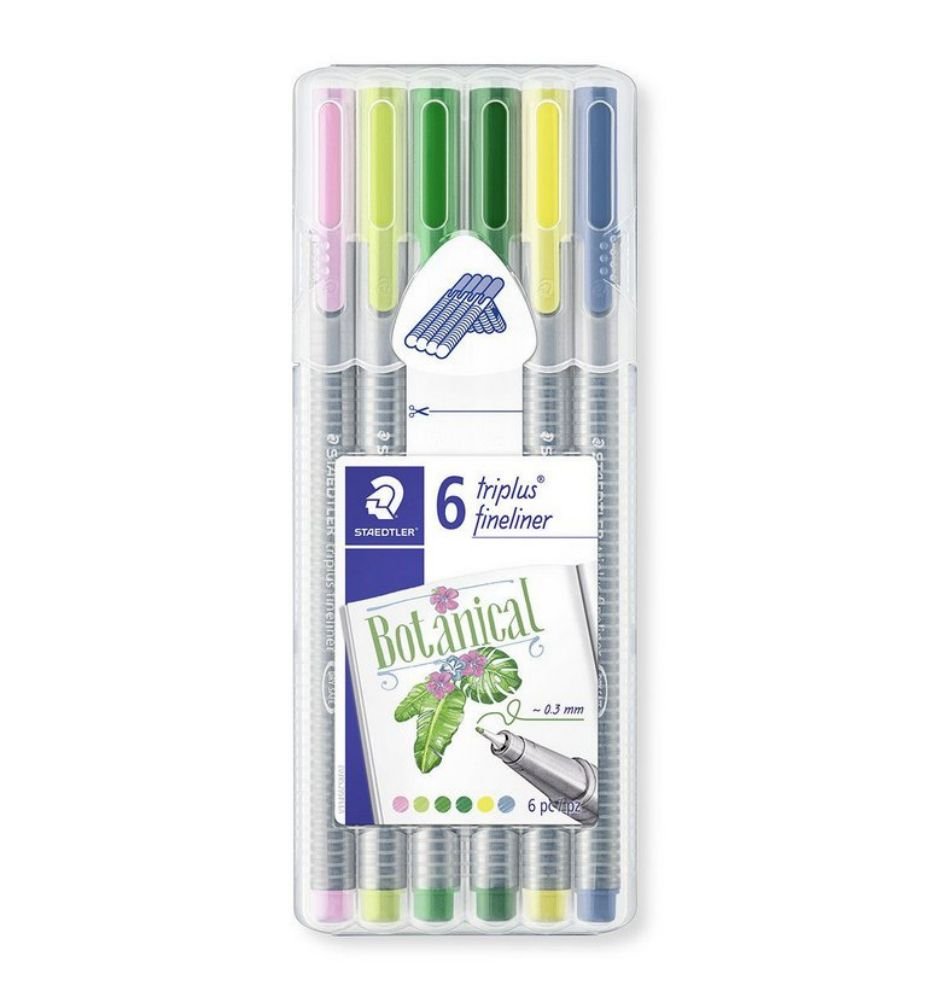 Staedtler, Caneta Triplus Fineliner, 0.3mm - Botanical Colours