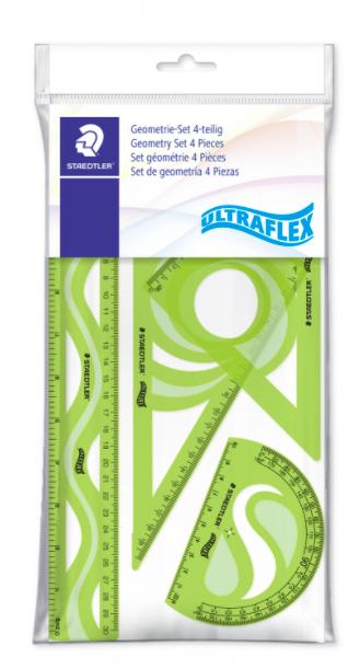 Staedtler, Conjunto Geométrico Staedtler Ultra Flex 4 peças