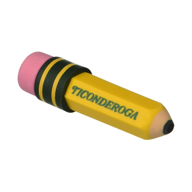 Ticonderoga, Borracha Pencil-Shaped Erasers