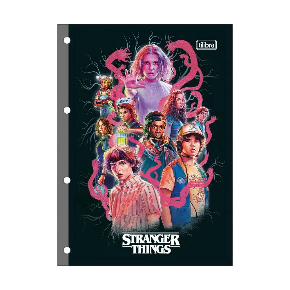 Tilibra, Refil folha fichário Universitário Stranger Things - 80 Folhas