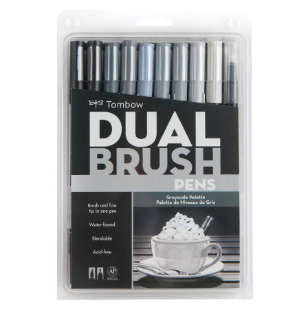 Tombow - Dual Brush Pen Grayscale