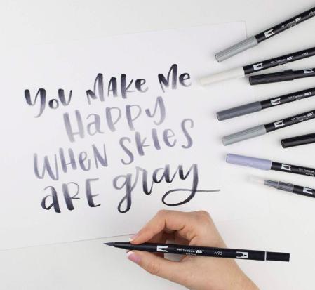 Tombow - Dual Brush Pen Grayscale
