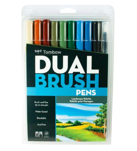 Tombow - Dual Brush Pen Landscape II