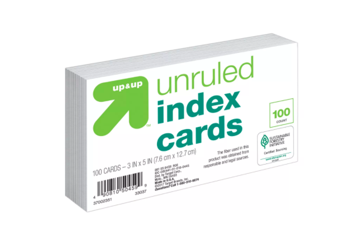 Up&Up - Ficha branca - 100 cards - 7x12