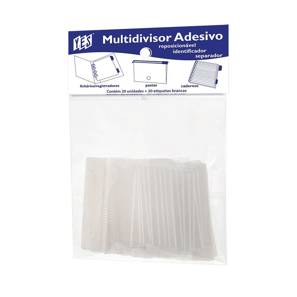 YES, Multi visor Adesivo C/ 20 Unidades - Transparente