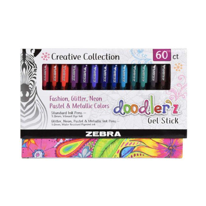 Zebra, Caneta em Gel  Doodlerz, 60 cores