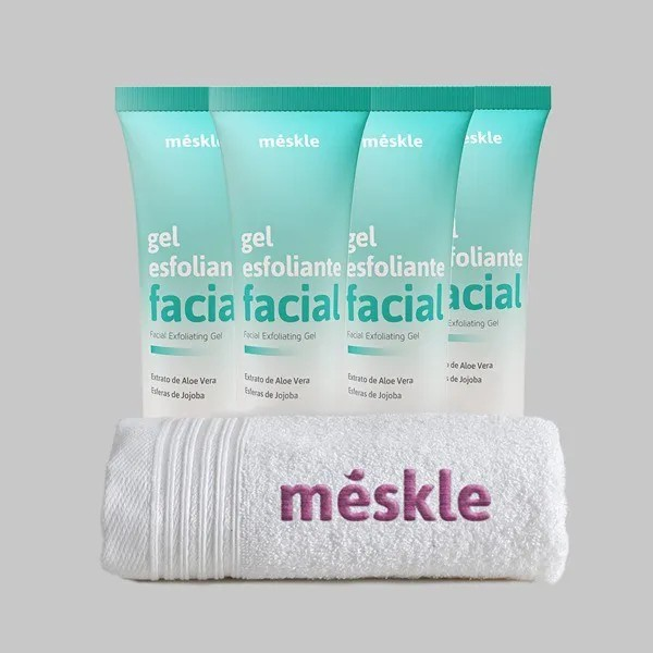 Kit com 4 Gel Esfoliante Méskle