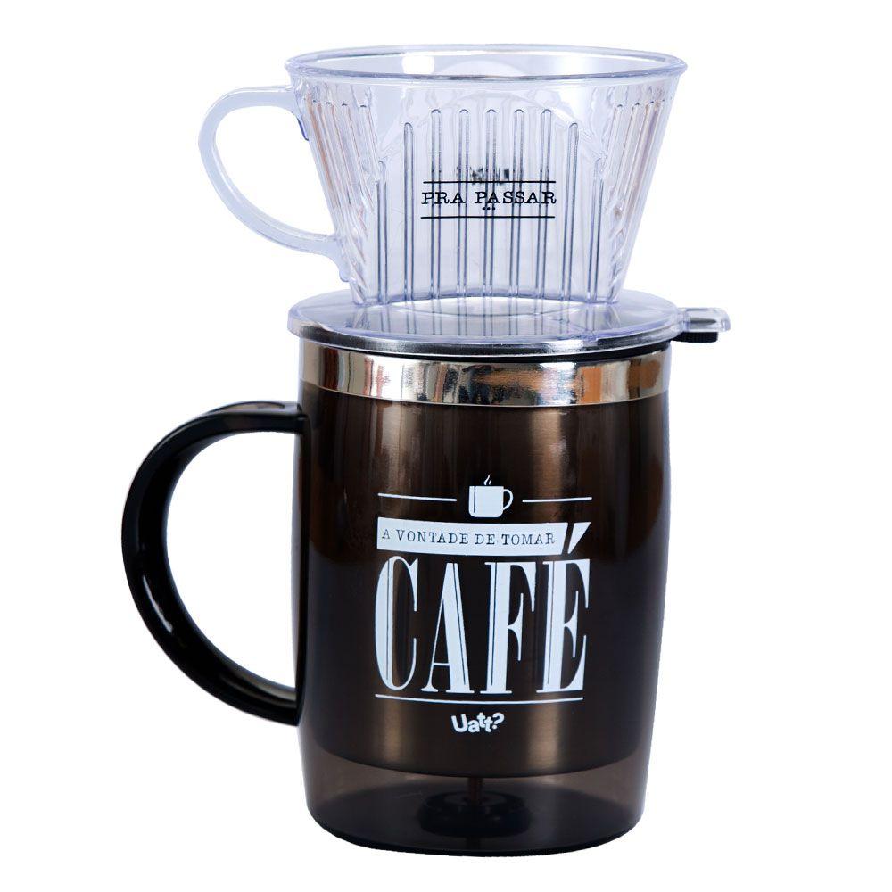 CANECA COM  FILTRO - PRA PASSAR CAFE