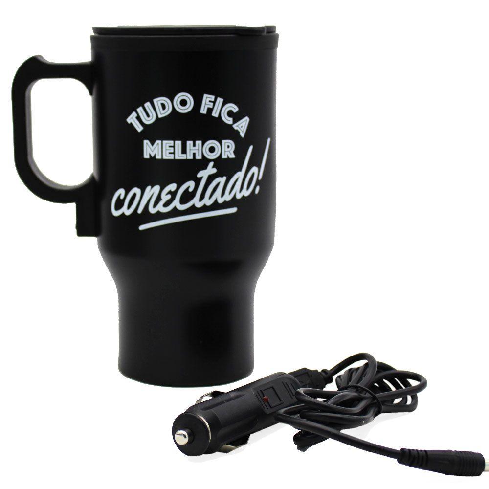CANECA TÉRMICA USB - TUDO FICA MELHOR