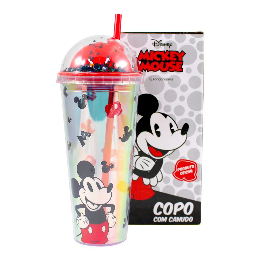 COPO CANUDO HOLOGRAFICO MICKEY
