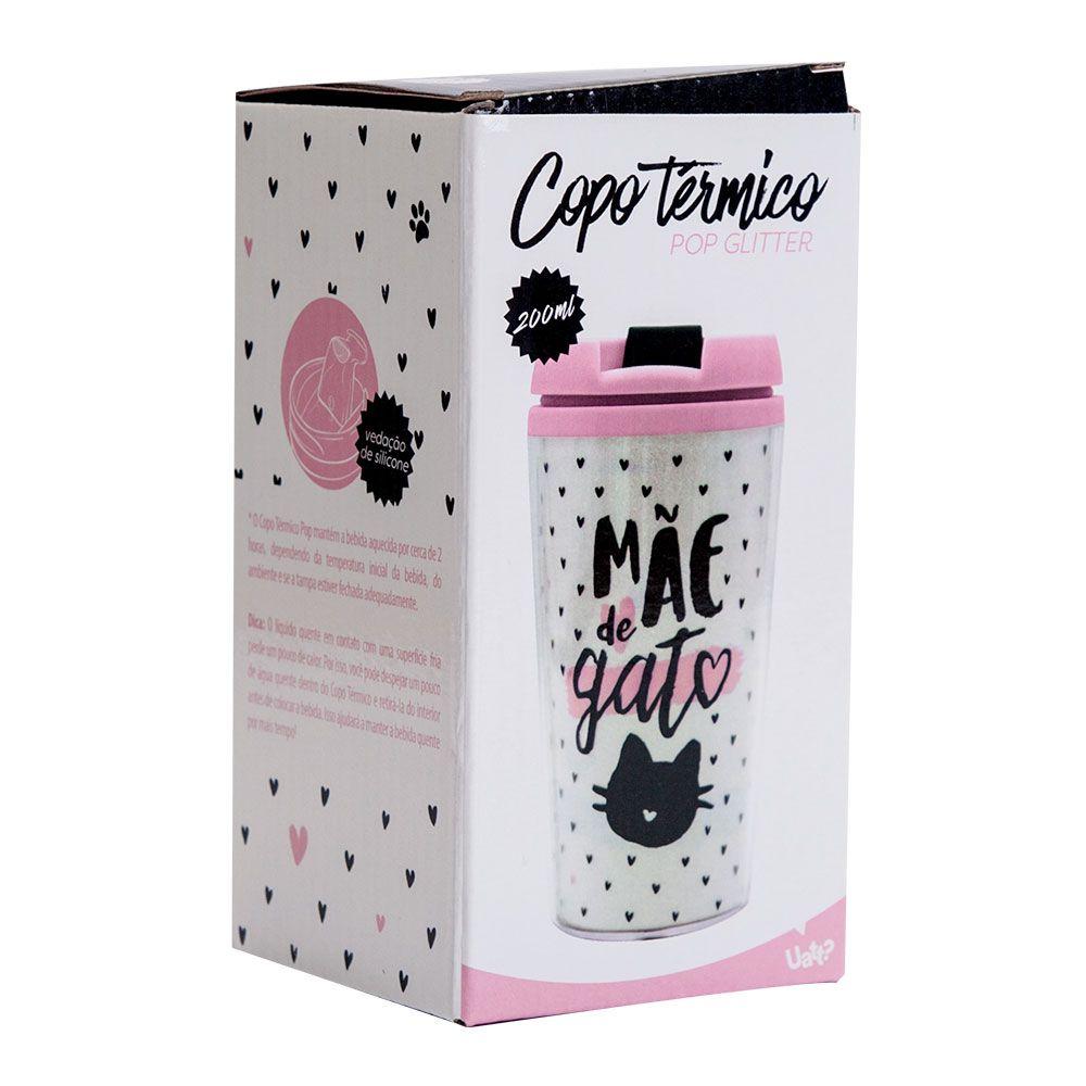 COPO TERMICO POP GLITTER - MAE DE GATO