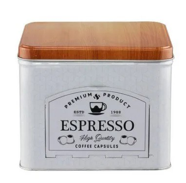 LATA PORTA CAPSULA DE CAFÉ