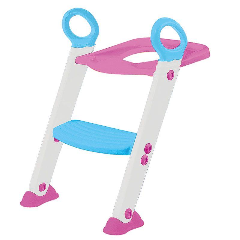 Assento Redutor para Vaso com Escada Rosa - Buba