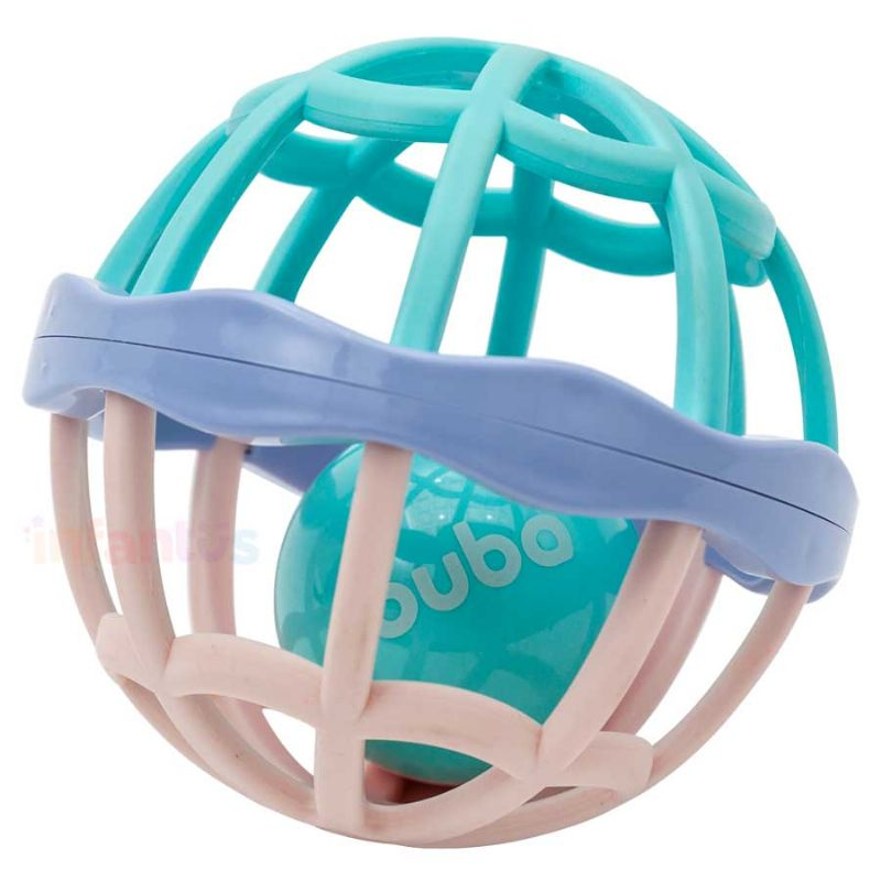 Baby Ball Cute Colors com Chocalho Azul - Buba