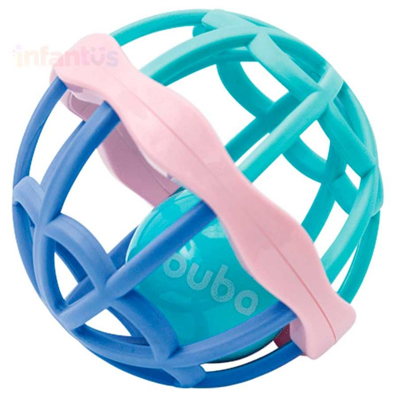 Baby Ball Cute Colors com Chocalho Rosa - Buba