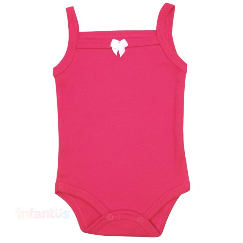 Body Alça Liso Rosa Escuro - Babyhood