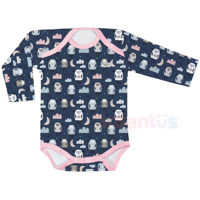 Body Estampado Manga Longa Ovelhas - Batistela Baby