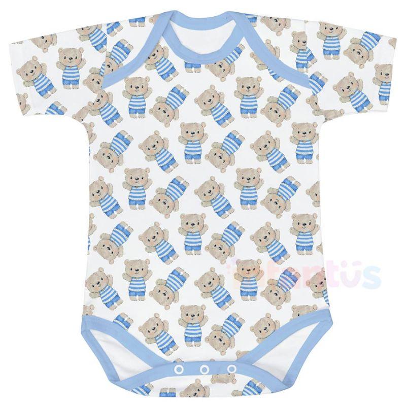 Body Estampado Manga Curta Ursinho - Batistela Baby