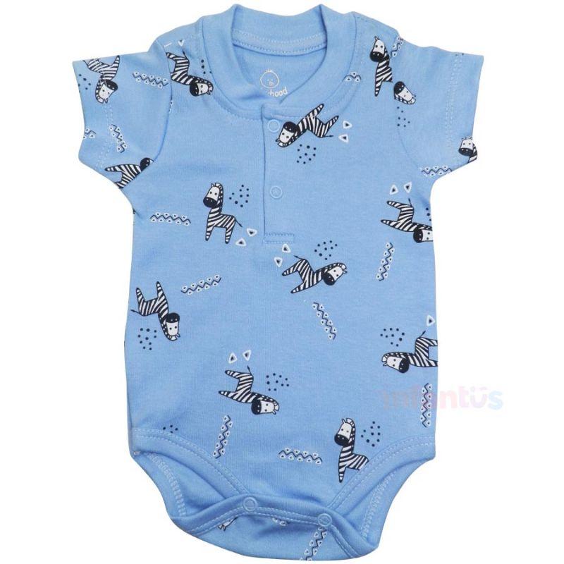 Body Manga Curta Zebras - Babyhood