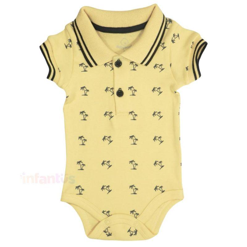 Body Polo Coqueiro Amarelo - Babyhood