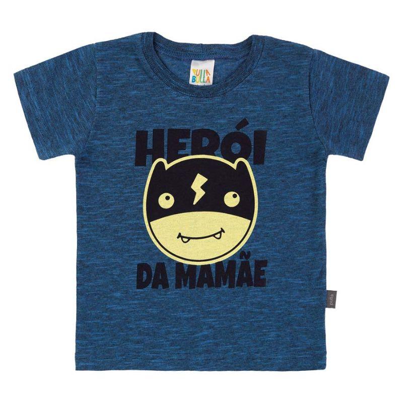 Camisa Infantil Herói Marinho - Pulla Bulla