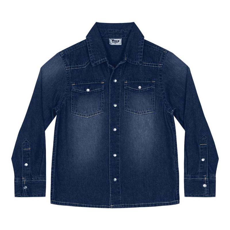 Camisa Infantil Menino Jeans - Trick Nick