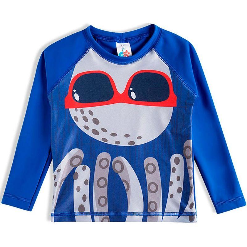 Camisa Praia Polvo Azul - Tip Top