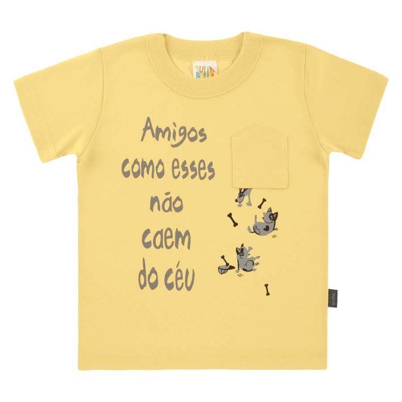 Camisa Infantil Amigos Amarela - Pulla Bulla